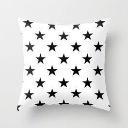 Stars (Black/White) Throw Pillow