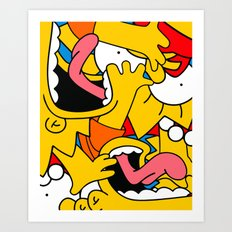 Simpsons Art Print