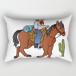 Cowboy on the horse Rectangular Pillow