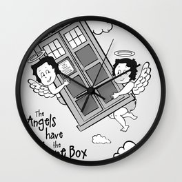 The Angels have the Phone Box (Version 5) Wall Clock