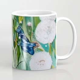 Grasshoppers and Dandelions (Oil Painting) Coffee Mug