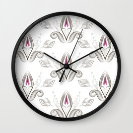 Art Deco 38. Rosebud . Wall Clock
