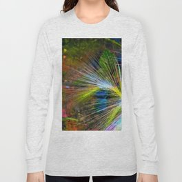 Grass on a background of dark sky Long Sleeve T-shirt