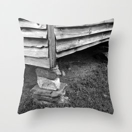 Vintage Black And White Structure Throw Pillow