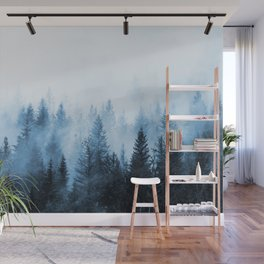 Misty Winter Forest Wall Mural