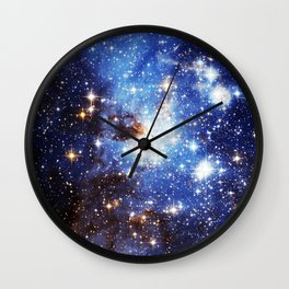 Blue Galaxy Wall Clock