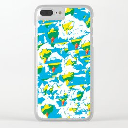Abstract Trees Pattern. Nature. Outdoor. Trees Clear iPhone Case