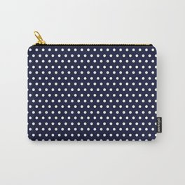 Navy & White Polka Dot Carry-All Pouch