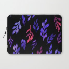 180726 Abstract Leaves Botanical Dark Mode 13 |Botanical Illustrations Laptop Sleeve