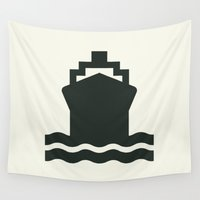 ship Wall Tapestries featuring Ship by Alejandro Díaz