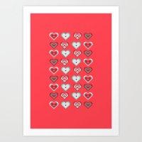 valentine Art Prints featuring Valentine by Heaven7