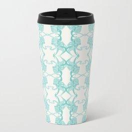 Blue Octacluar Octopus Metal Travel Mug