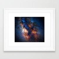 milky way Framed Art Prints featuring Milky Way by Zavu