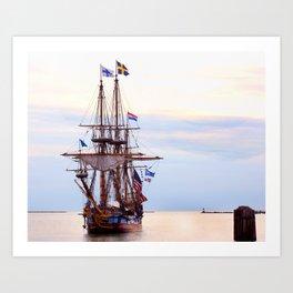 Kalmar Nykel Tall Sails Ship Photograph Print Art Print