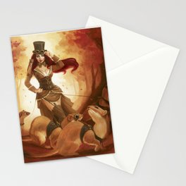 """A Sneak Of Weasels"" Steampunk Pin-Up Stationery Cards"