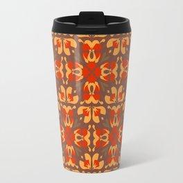 Abstract flower pattern 6e Travel Mug
