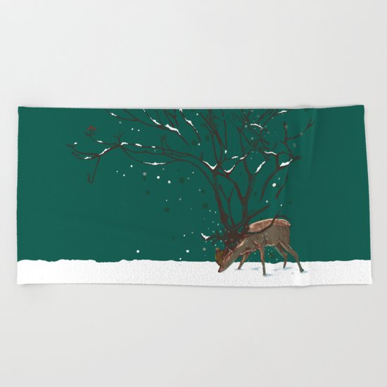 Winter Is All Over You Beach Towel