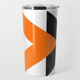 Forward arrows marble orange Travel Mug