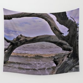 Drift Wood Beach 7 Wall Tapestry