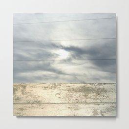 landscape 001: telegraph sky over white woods Metal Print
