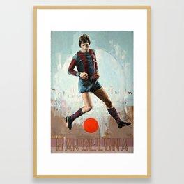 One Love: BCN (JC) Framed Art Print