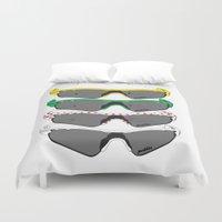 tour de france Duvet Covers featuring Tour de France Glasses by Pedlin