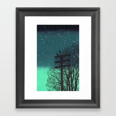 Gone Away Night Framed Art Print