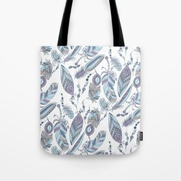 Tribal Feathers with Beads Tote Bag