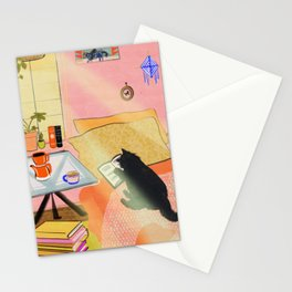 Well-Read Coffee Cat Stationery Cards