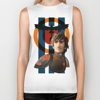 hiccup Biker Tanks featuring Train a Dragon by milanova