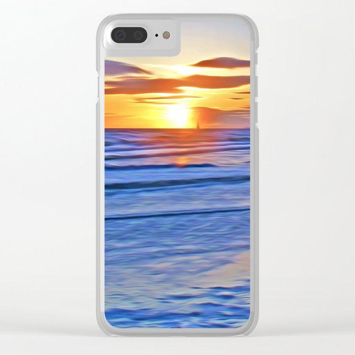 Irish Sea Clear iPhone Case