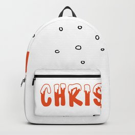 Christmas Snow and Snowballs Backpack