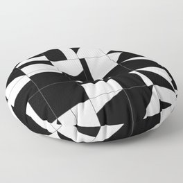 AGBW - Abstract, Geometric, Black & White Floor Pillow