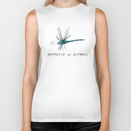 Damselfly in Distress Biker Tank