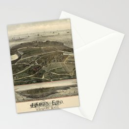 Map Of Rockport 1880 Stationery Cards