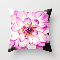 dahlia Throw Pillows featuring dahlia by Karl-Heinz Lüpke
