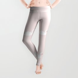 Swan pattern on pink 033 Leggings
