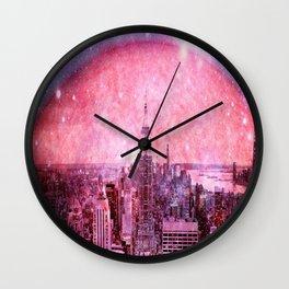Galaxy : Space Colony Wall Clock