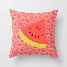 Spring watermelon Throw Pillow