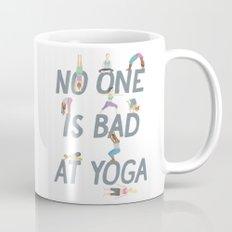 No One is Bad at Yoga Mug