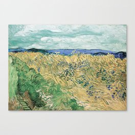 Wheatfield with Cornflowers by Vincent van Gogh Canvas Print
