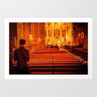 religion Art Prints featuring Religion Portugal by Sébastien BOUVIER