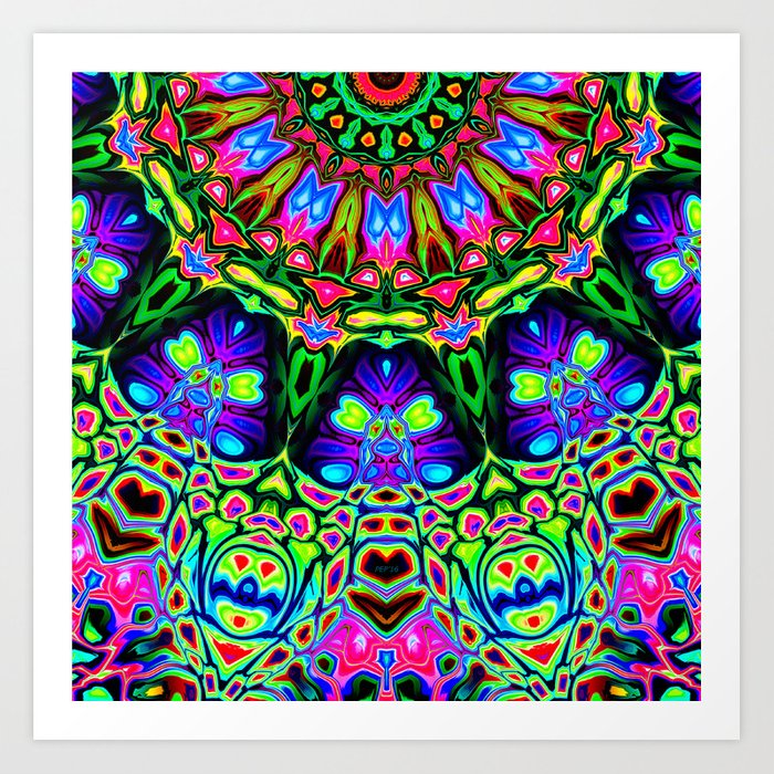 Abstract Decorative Pattern Art Print