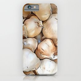 Garlic bulbs iPhone Case