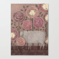 sleeping beauty Canvas Prints featuring Sleeping beauty by Judith Clay