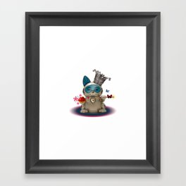 B.U.D.G.I.E. (Biomechanical Unit Designed for Galactic Infiltration and Exploration) Framed Art Print
