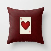 ace Throw Pillows featuring Ace by Anne Seltmann