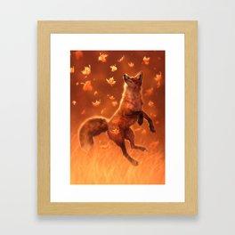 Jump Into Fall Framed Art Print