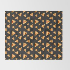 Cool and fun pizza slices pattern Throw Blanket