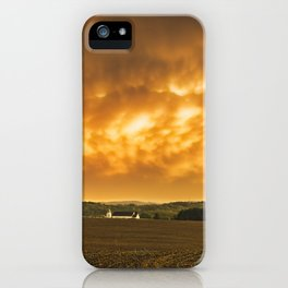 Fiery Skies Over Pennsylvania Landscape iPhone Case